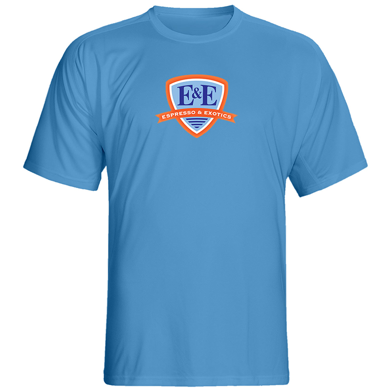 Carolina Blue T-Shirt with Blue Logo by Espresso & Exotics